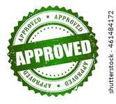 approved rubber stamp green...   Shutterstock .eps vector #461484172