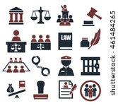 attorney  court  law icon set | Shutterstock .eps vector #461484265