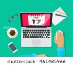 calendar events planning... | Shutterstock .eps vector #461485966