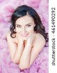beautiful girl with beautiful... | Shutterstock . vector #461490292