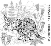 triceratops   prehistoric... | Shutterstock .eps vector #461492332