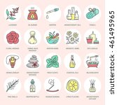 modern vector line icons of... | Shutterstock .eps vector #461495965