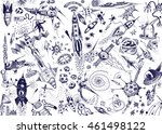 space background with a large... | Shutterstock . vector #461498122