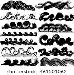 set of sea spray. brush stroke... | Shutterstock .eps vector #461501062