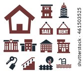 buying home icon set | Shutterstock .eps vector #461503525