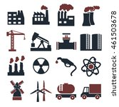 building factory icon set | Shutterstock .eps vector #461503678