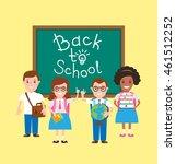 back to school children pupils... | Shutterstock .eps vector #461512252