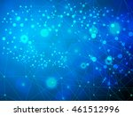 structure molecule and... | Shutterstock .eps vector #461512996