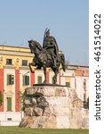 skanderbeg statue on skanderbeg ... | Shutterstock . vector #461514022