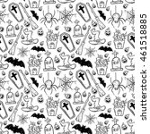 cute doodle halloween seamless... | Shutterstock .eps vector #461518885