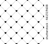 romantic pattern with cute... | Shutterstock .eps vector #461519608