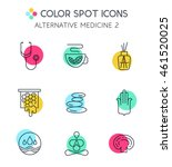 alternative medicine icons.... | Shutterstock .eps vector #461520025