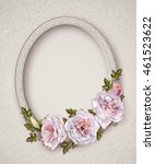 Oval Photo Frame. Bouquet Of...