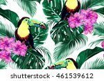 toucans  exotic birds  tropical ... | Shutterstock .eps vector #461539612