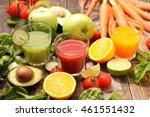 assorted vegetable juice | Shutterstock . vector #461551432
