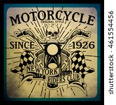 vintage motorcycle hand drawn... | Shutterstock .eps vector #461554456