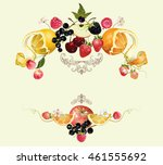 vector vintage royal fruit and... | Shutterstock .eps vector #461555692