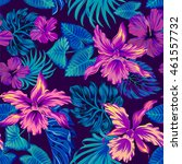dark vector tropical pattern.... | Shutterstock .eps vector #461557732