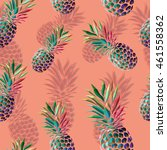 seamless colorful pineapple... | Shutterstock .eps vector #461558362