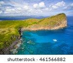mauritius beach aerial view of... | Shutterstock . vector #461566882
