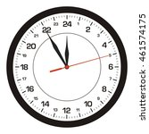vector clock 24 hours  | Shutterstock .eps vector #461574175