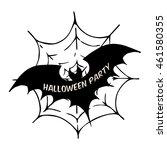 Bat On Spider Web. Vector...