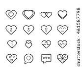heart line icon | Shutterstock .eps vector #461587798