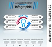 business infographics origami... | Shutterstock .eps vector #461589622
