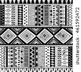 black and white tribal navajo... | Shutterstock .eps vector #461592472