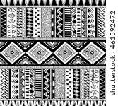 black and white tribal navajo... | Shutterstock .eps vector #461592472