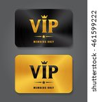 vip cards with metal background.... | Shutterstock .eps vector #461599222