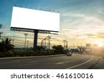 billboard blank for outdoor... | Shutterstock . vector #461610016
