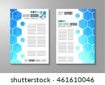 brochure template  flyer design ... | Shutterstock .eps vector #461610046