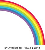 cute rainbow background and...   Shutterstock .eps vector #461611045