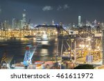 cargo port in hong kong  | Shutterstock . vector #461611972