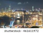 cargo port in hong kong    Shutterstock . vector #461611972