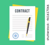 contract document with rubber... | Shutterstock .eps vector #461617066