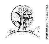tree house | Shutterstock .eps vector #461617966