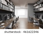 company office with whiteboard... | Shutterstock . vector #461622346