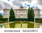 Royal Palace In Madrid  Spain...