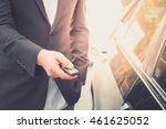 businessman opening his car... | Shutterstock . vector #461625052