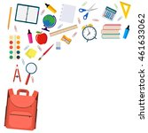 back to school background with... | Shutterstock . vector #461633062
