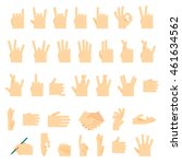 icons and symbols  hands wrist  ... | Shutterstock .eps vector #461634562