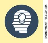 web icon of head. | Shutterstock .eps vector #461634685