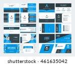 set of modern creative business ... | Shutterstock .eps vector #461635042
