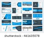 set of modern creative business ... | Shutterstock .eps vector #461635078