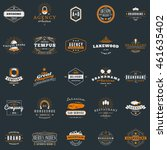 set of vintage retro logotype... | Shutterstock .eps vector #461635402