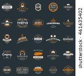 set of vintage retro logotype... | Shutterstock .eps vector #461635402