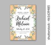 wedding  invitation or card ...   Shutterstock .eps vector #461639485