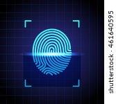 id app icon.  scanning... | Shutterstock .eps vector #461640595
